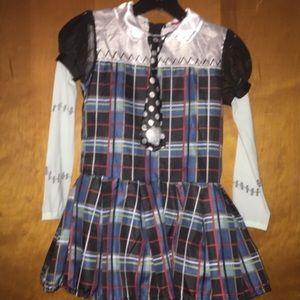 Girls monster high frankie stein dress costume 5/6